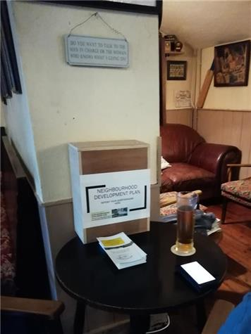 Box at the Crook and Sheers - Questionnaires for the Anna Valley, Red Rice and Upper Clatford Neighbourhood Development Plan will be with you soon!