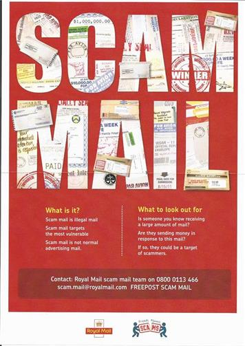 - R Mail Poster 'Scam Mail'